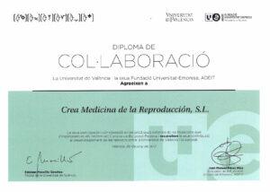 Diploma de colaboración ADEIT